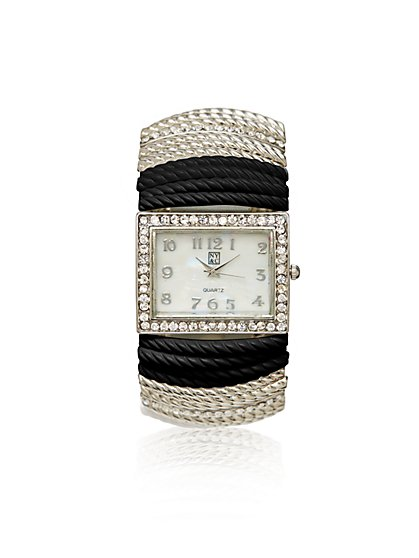 Silver & White Stretch Watch - New York & Company