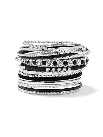 Silvertone Bangle Set  - New York & Company
