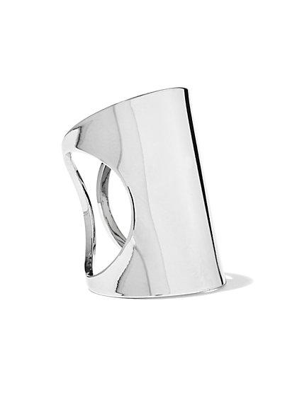 Silvertone Bar Ring  - New York & Company