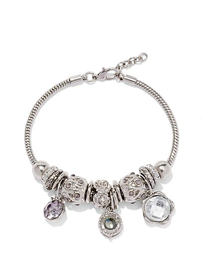 Silvertone Bracelet & Charms Set  - New York & Company