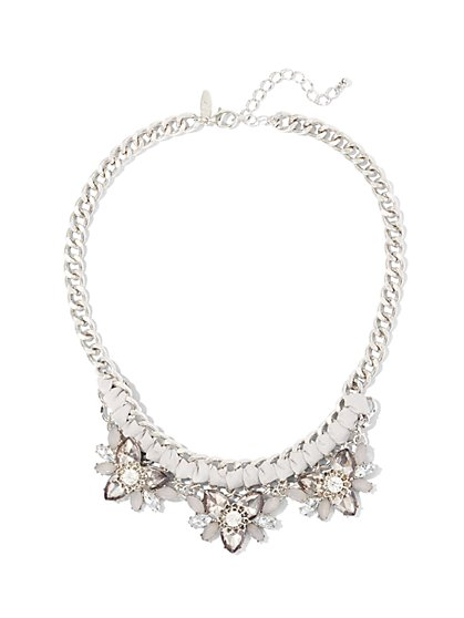 Silvertone Chain-Link Statement Necklace  - New York & Company