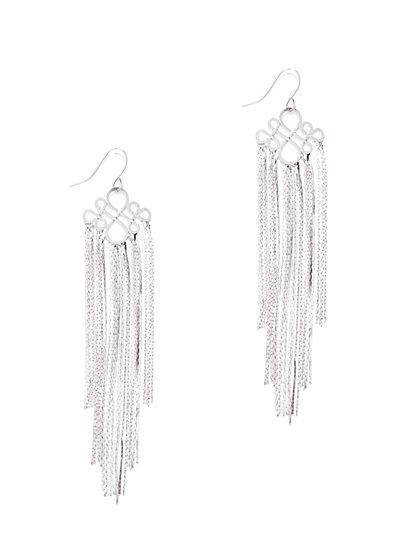 Silvertone Chain-Tassel Earring - New York & Company