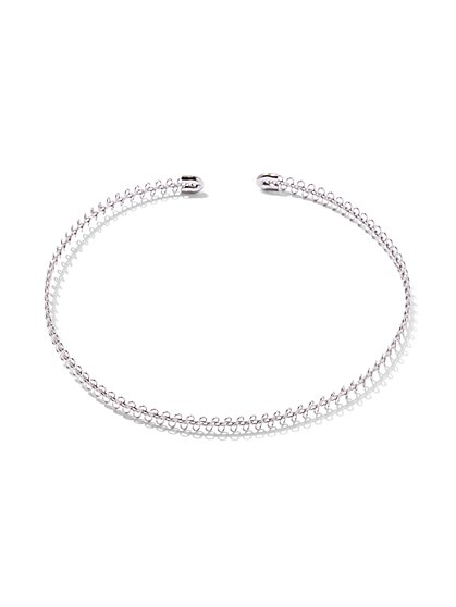 Silvertone Choker Necklace  - New York & Company