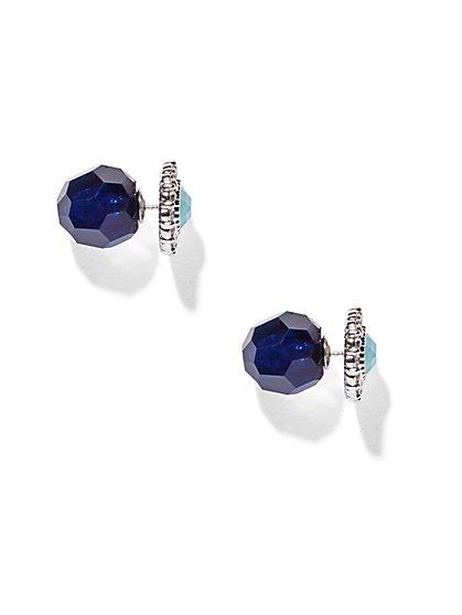 Silvertone Front/Back Earring  - New York & Company