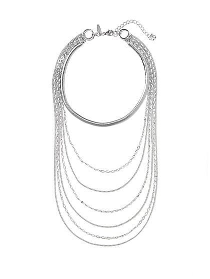 Silvertone Layered Necklace  - New York & Company