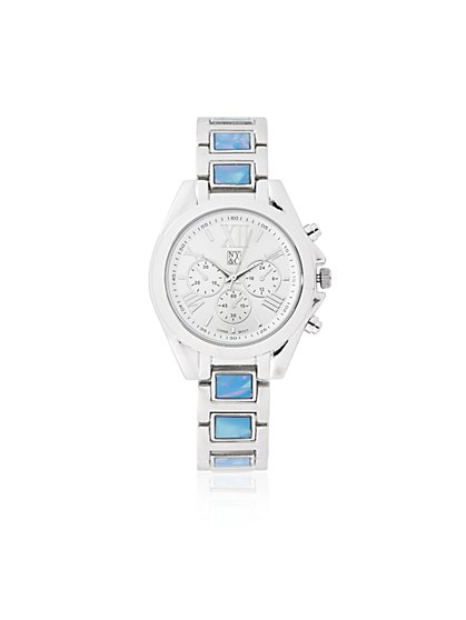 Silvertone Link Watch  - New York & Company