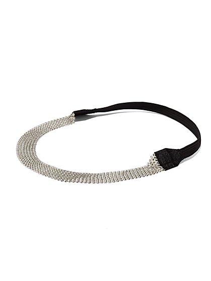 Silvertone Mesh Headband  - New York & Company