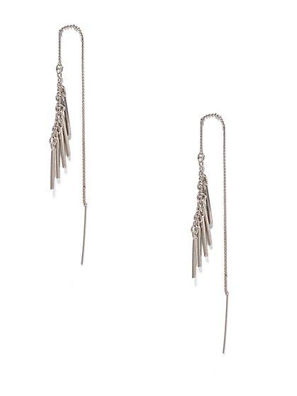 Silvertone Pull-Through Earring  - New York & Company