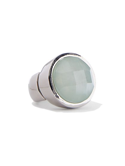 Silvertone Stretch Ring  - New York & Company