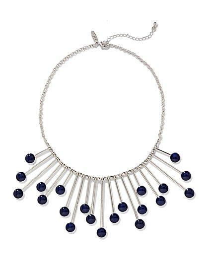 Silvertone Sunburst Necklace  - New York & Company