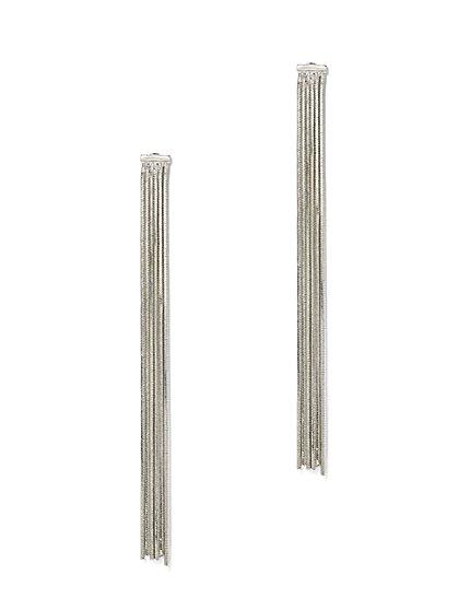 Silvertone Tassel Earring  - New York & Company