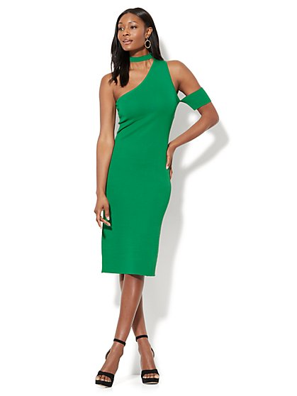 Siren One-Shoulder Dress - New York & Company