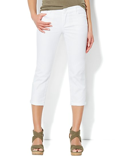 Skinny Crop Jean - Optic White - New York & Company
