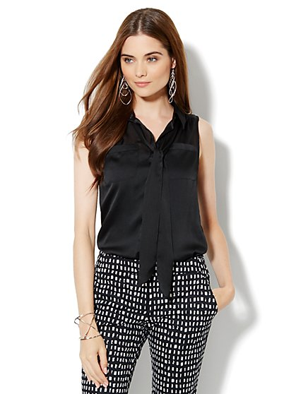Sleeveless Bow Blouse - New York & Company