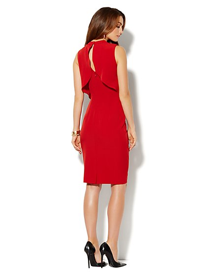 Sleeveless Crop Overlay Dress - New York & Company
