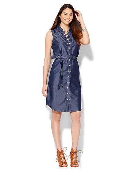 Sleeveless Denim Dress  - New York & Company