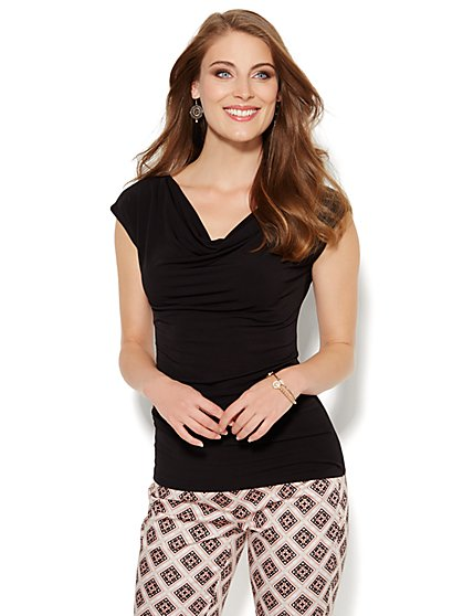Sleeveless Draped Top - New York & Company