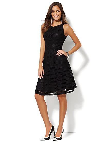 Sleeveless Eyelet Dress  - New York & Company