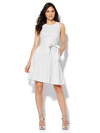 Sleeveless Flare Dress - Petite  - New York & Company