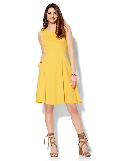 Sleeveless Flare Dress - Petite  - New York & Company
