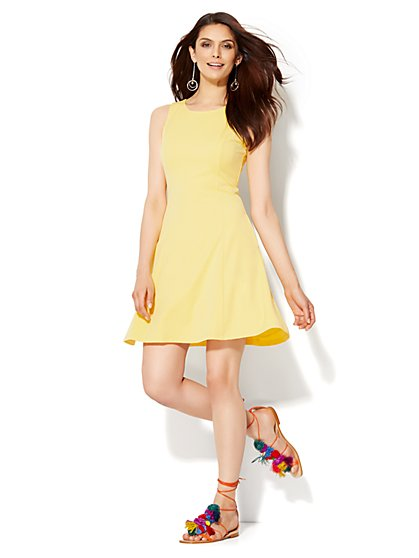 Sleeveless Flare Dress - Superstretch - New York & Company
