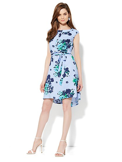 Sleeveless Floral Shirtdress