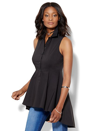 Sleeveless Hi-Lo Shirt  - New York & Company