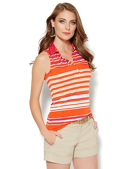 Sleeveless Knit Top - Stripe - New York & Company