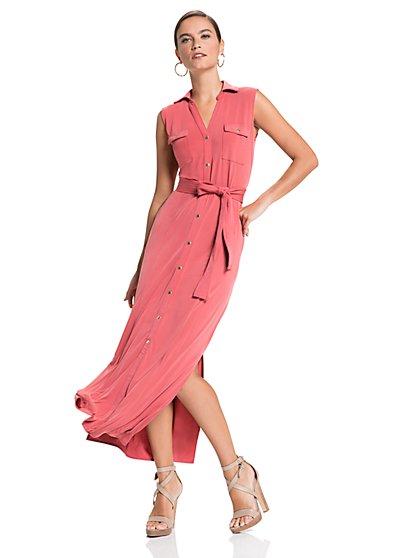 Sleeveless Maxi Shirtdress - New York & Company