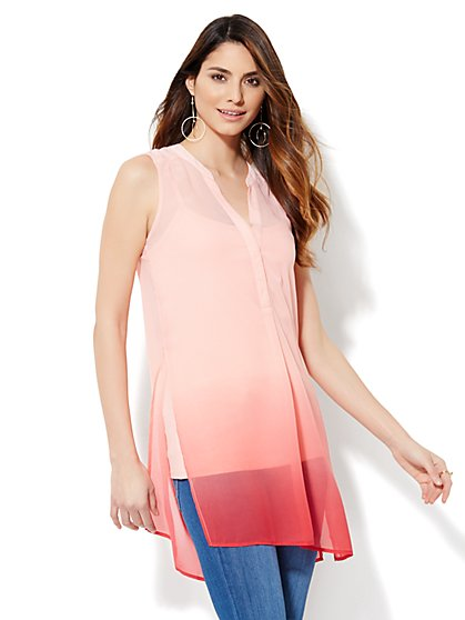 Sleeveless Ombré Tunic - New York & Company