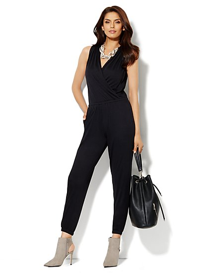 Sleeveless Wrap Jumpsuit - New York & Company
