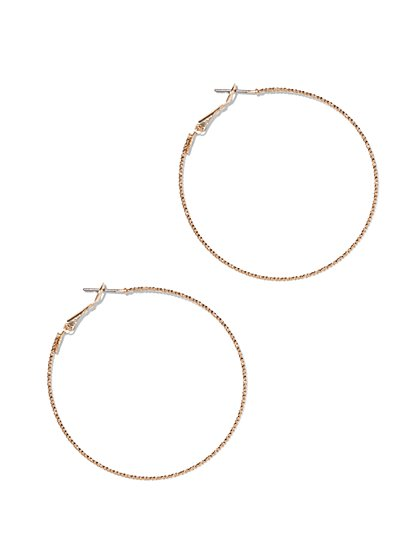 Slim Hoop Earring  - New York & Company