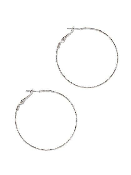 Slim Hoop Earring  - New York & Company