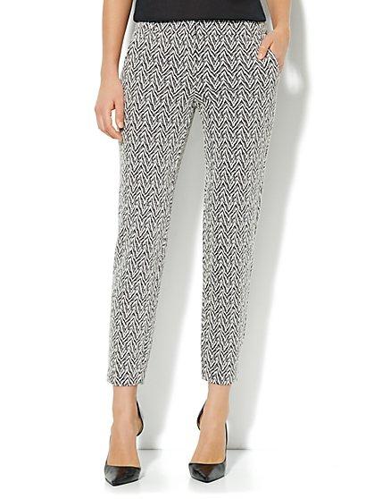 Slim Leg Jacquard Trouser Pant - New York & Company