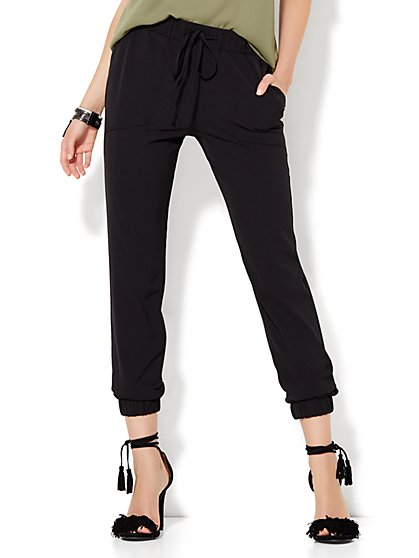 Slim-Leg Jogger - Black  - New York & Company