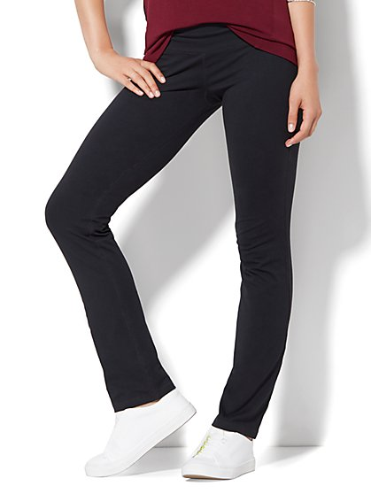 Slim-Leg Yoga Pant - Black  - New York & Company