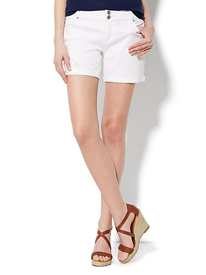 Slim Slouch Montauk Short - Optic White