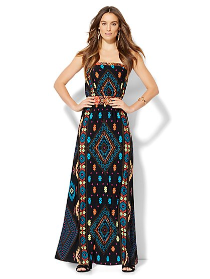 Smocked Maxi Dress - New York & Company