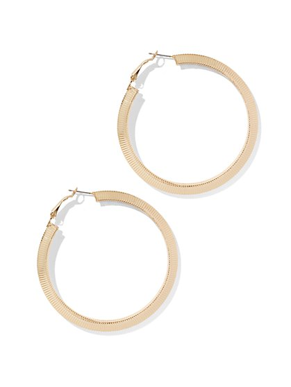 Snake Chain Hoop Earring  - New York & Company