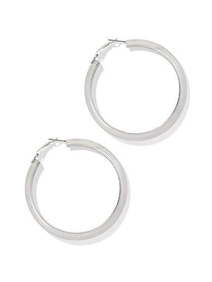 Snake Chain Hoop Earring  - New York & Company