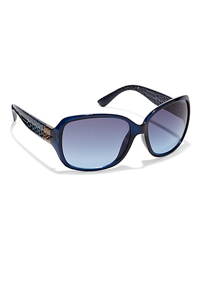 Snake-Embossed Sunglasses  - New York & Company