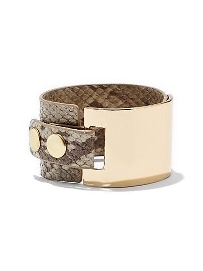 Snake-Print Cuff Bracelet  - New York & Company
