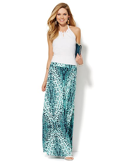 Snake-Print Maxi Skirt - New York & Company