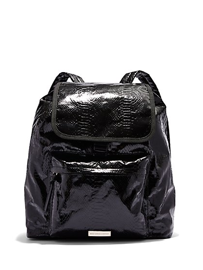 Snake Texture Backpack  - New York & Company