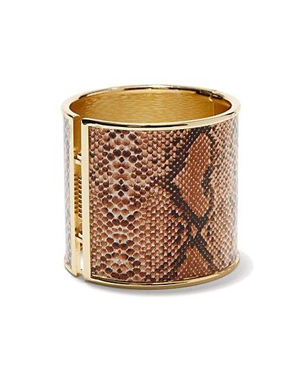 Snakeskin-Print Cuff