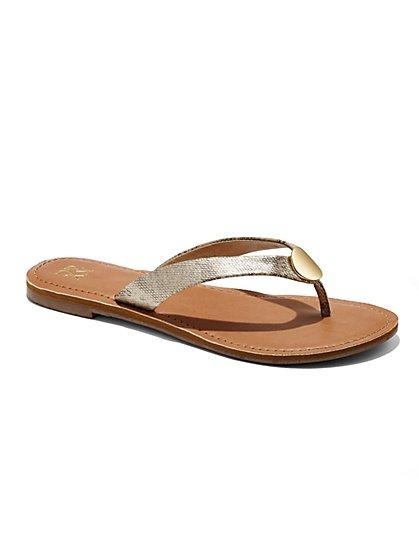 Snakeskin Thong Sandal  - New York & Company