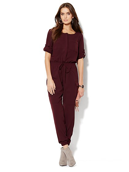 Soft Cargo Jumpsuit  - New York & Company