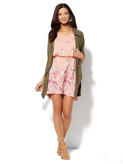 Soft Drawstring Anorak  - New York & Company