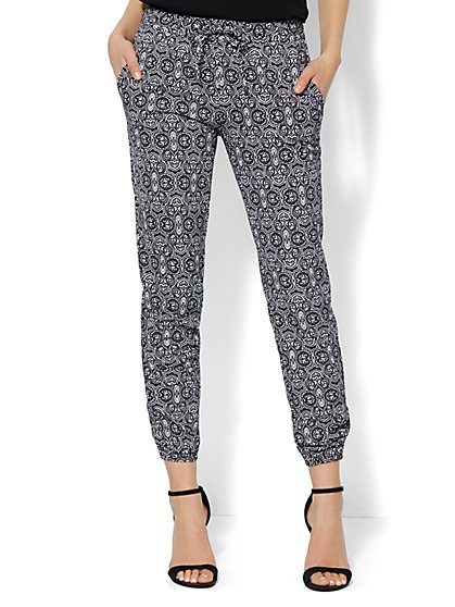 Soft Jogger Pant - Medallion Print - New York & Company