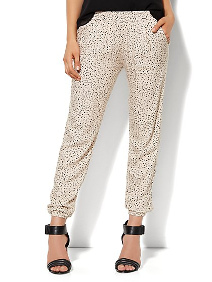Soft Jogger Pant - Paint-Drop Print